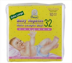 Baby Napkins XL (Checked)