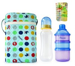 Double Standard Warmer + Feeding Bottle 8 oz + 3T Dispenser : (BBF 22)