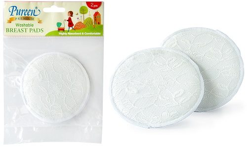 Premium Washable Breast Pad 2's With Lace (PAD-WL2)